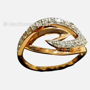 18kt rose gold cz diamond ring