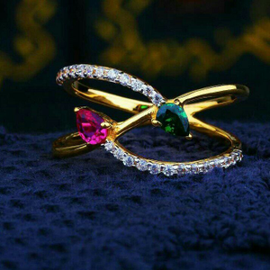 Exclusive color stone fancy cz ring lrg -0038