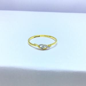 Designing slim fancy ladies gold ring