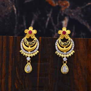 Ladies gold earrings-lfe102
