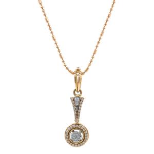 Nitidus circular diamond pendant in rose gold