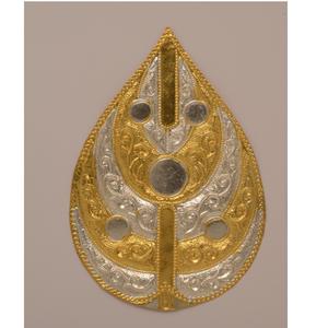 Gold plated designer puja pan