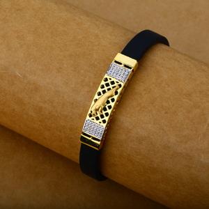Mens leather bracelet-mlb21