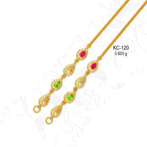 22kt gold designer cz kanser kc-120