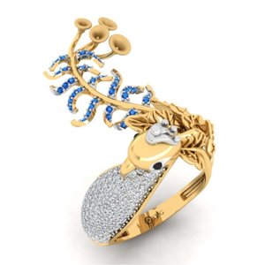 Unique pattern cocktail ring