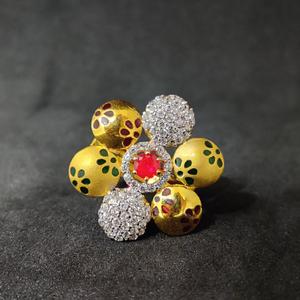 22kt meena design exclusive fancy gold ring-1