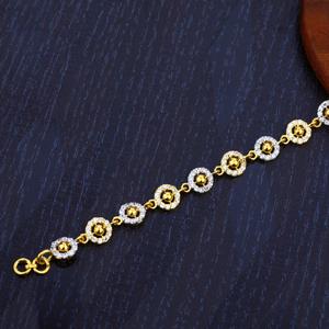 22k gold cz diamond bracelet-lb102