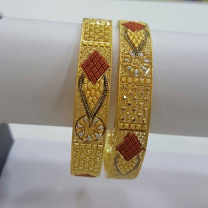 916 gold indian design bangle rh-b003