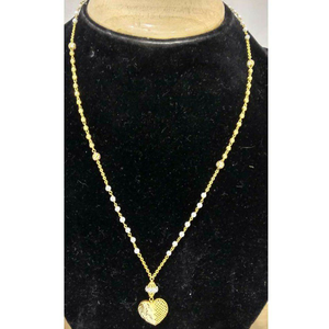 916 vertical gold long heart shape pendant ma