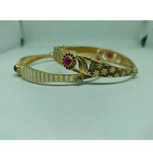 916 gold fancy pink stone copper kadli vn-b00