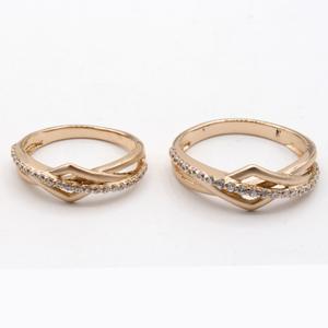 22kt gold designer couple ring kv-r004