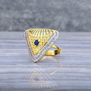 Ladies 916 gold ring-llr06