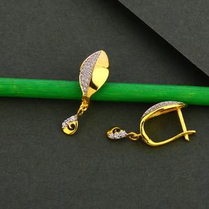 750 gold cz women's designer earring bali lfb