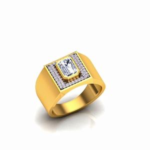 916 gold cz gents ring so-gr001