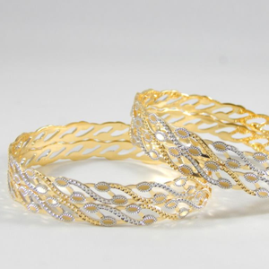 22kt yellow gold vivid winsome bangles for wo