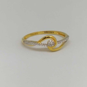 18kt gold ladies branded ring