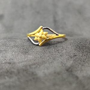 916 ladies wear plain gold ring-22002