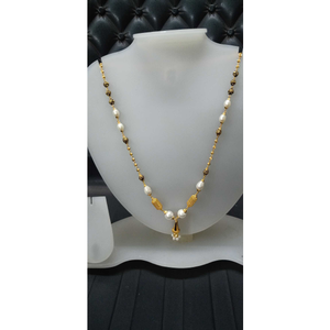 916 gold colored stone chain mala