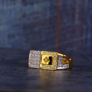 Mens gold 22k cz ring-mr421