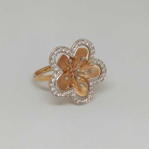 18 kt  rose gold ladies branded ring