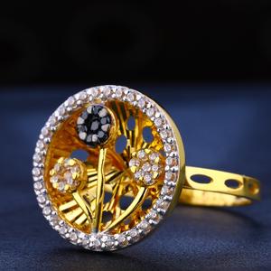 22kt gold cz diamond delicate women's  ring l