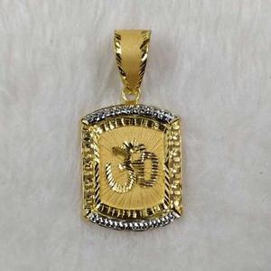 916 gold om religious pendant