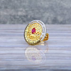 Ladies 22k gold adjustable ring-llr23
