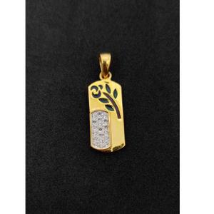 22k gents fancy gold pendant p-44535