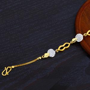 916 cz gold ladies bracelet-lb12