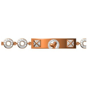 916 cz rose gold bracelet