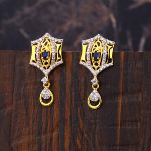 Ladies 22lk gold casting earrings -lfe202