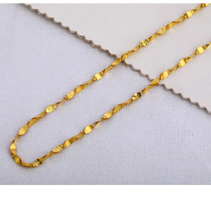 22kt gold gents  gorgeous choco chain mch400