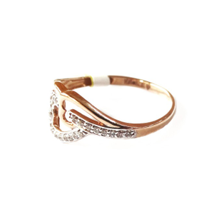 18k rose gold heart shape ring mga - rgr0018
