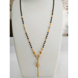 22 k gold fancy mangalsutra. nj-m0276