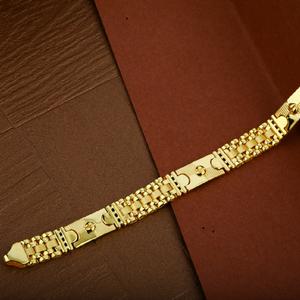 Mens 916 plain gold cz cartier bracelet-mcb07