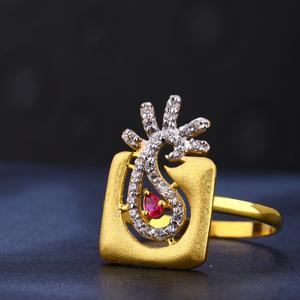 916 cz gold hallmark gorgeous women's ring lr