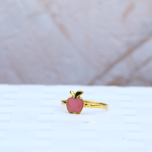 Kids baby shower gold ring-kr30