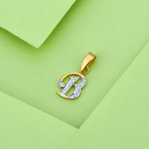916 gold fancy exclusive letter pendant lp18
