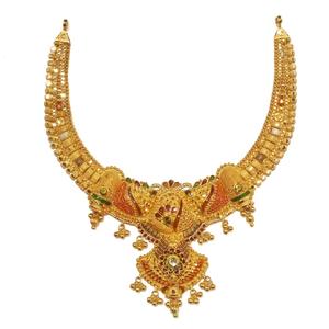 22kt gold kalkatti short necklace mga - gn059
