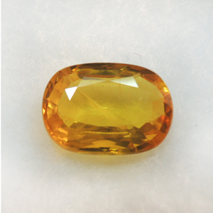 3.45ct oval natural yellow sapphire