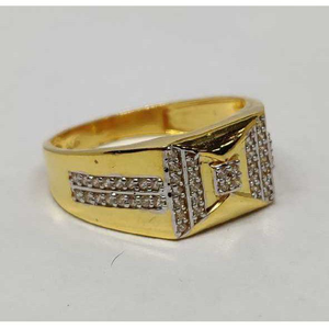 22k gents fancy gold ring gr-28551