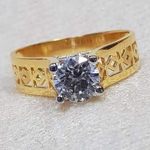 22 carat gold ladies single stone ring  rh-gr