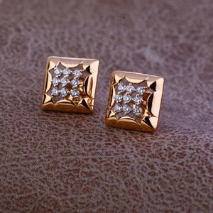 Ladies 76 rose gold fancy cz earring -re74