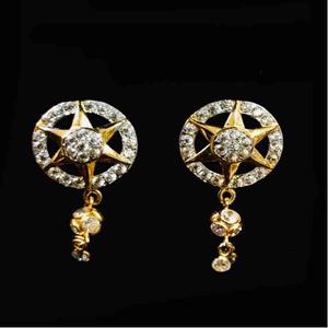 22kt gold exclusive diamond earrings