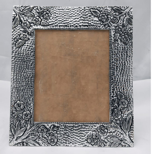 Pure silver photo frame in antique nakashii w