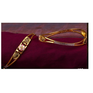 22kt gold ladies fancy copper kadli(gabha kad