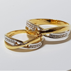 22 ct gold couple ring uniqe design
