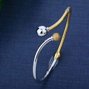 916 cz gold torque bracelet