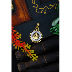 916 gold ganesha design cz pendant jj - p005