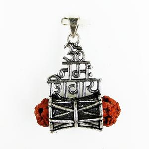 92.5 sterling silver mahadev rudraksh pendant